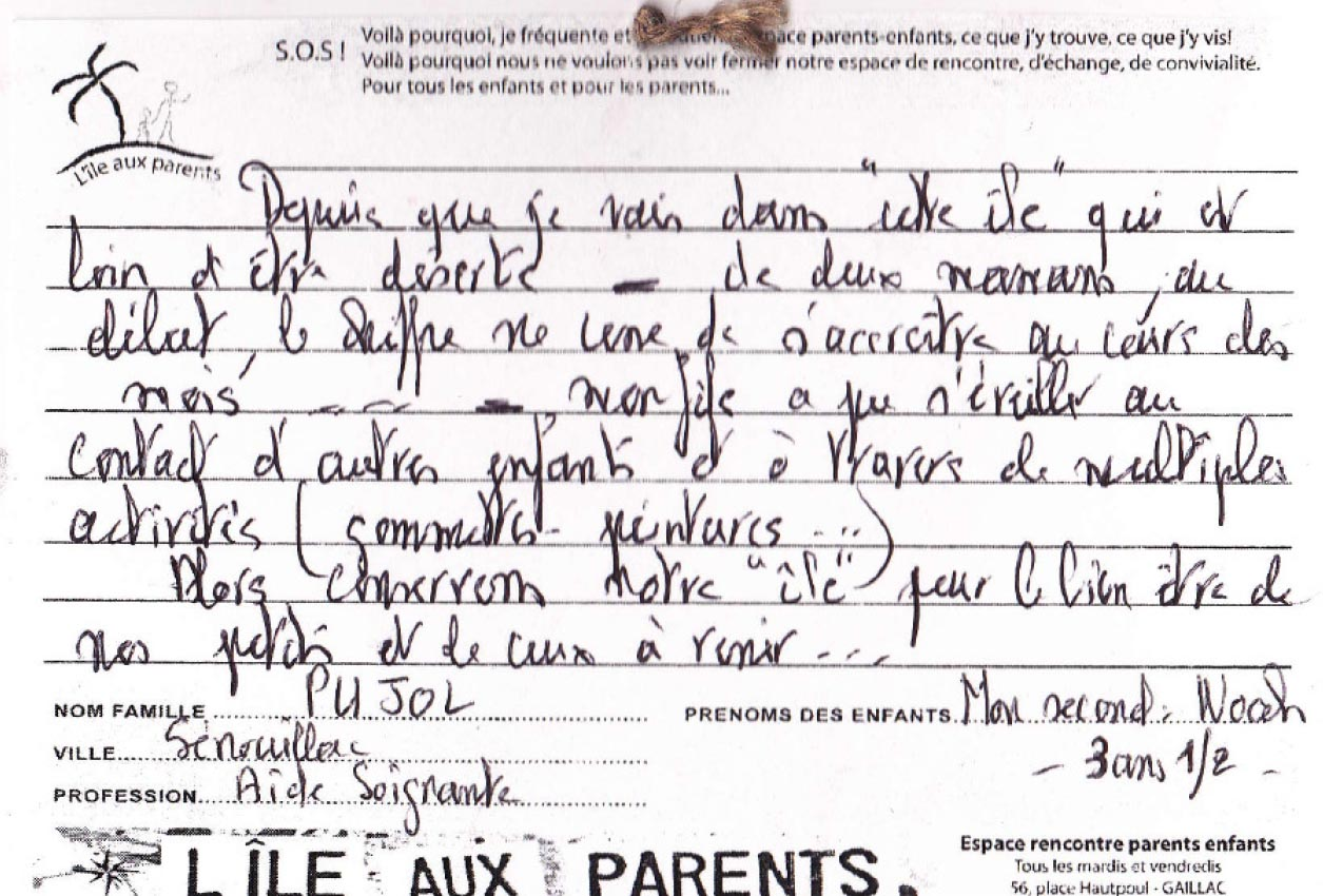 document rencontre parents
